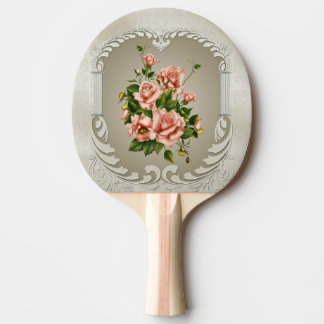 Victorian Roses Ping Pong Paddle
