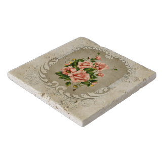 Victorian Roses Stone Trivets