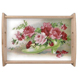 Victorian Roses with Shoe Serving Tray