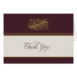 Victorian Royalty Thank You Card