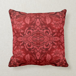 Victorian Ruby Red Floral Pattern MoJo Pillow