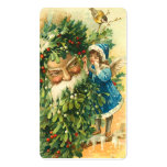 Victorian Santa & Fae Mini Greetings or Gift Tags Business Card Template