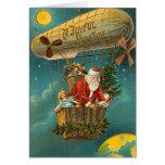 Victorian Santa in a Balloon