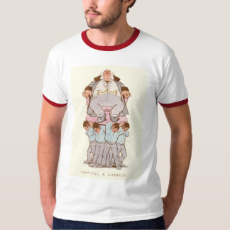 Victorian satire on capitalism and labour T-Shirt