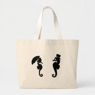 Victorian Seahorses Tote Bag