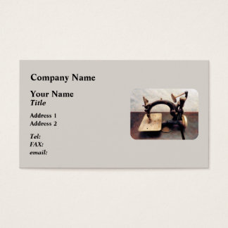 Victorian sewing Machine Business Card