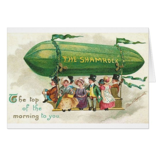 Victorian Shamrock Blimp St. Patrick's Day Card