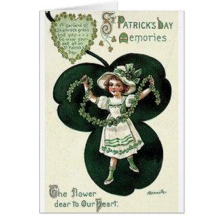 Victorian Shamrock Garland St. Patrick's Day Card