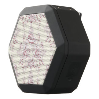 Victorian,soft yellow, soft pink,floral,pattern,vi black bluetooth speaker