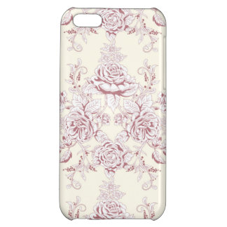 Victorian,soft yellow, soft pink,floral,pattern,vi cover for iPhone 5C