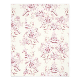Victorian,soft yellow, soft pink,floral,pattern,vi flyer