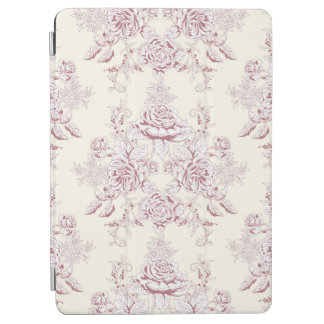 Victorian,soft yellow, soft pink,floral,pattern,vi iPad air cover