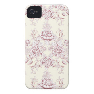 Victorian,soft yellow, soft pink,floral,pattern,vi iPhone 4 cover