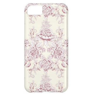 Victorian,soft yellow, soft pink,floral,pattern,vi iPhone 5C case