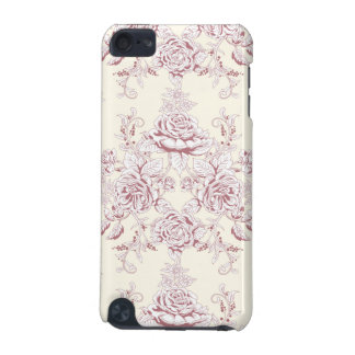 Victorian,soft yellow, soft pink,floral,pattern,vi iPod touch (5th generation) cases
