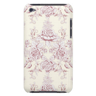 Victorian,soft yellow, soft pink,floral,pattern,vi iPod touch Case-Mate case