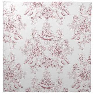 Victorian,soft yellow, soft pink,floral,pattern,vi napkin