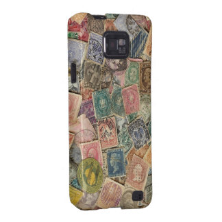 Victorian Stamp Collage Galaxy S2 Covers