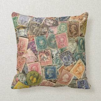 Victorian Stamp Collage Cushion