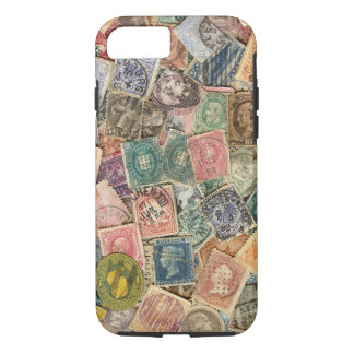 Victorian Stamp Collage iPhone 7 Case