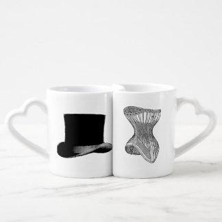 Victorian Steampunk Hat Corset Mug Set