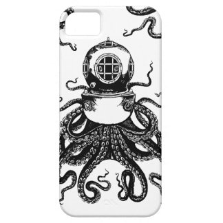 victorian Steampunk Octopus Kraken Diving Helmet! Barely There iPhone 5 Case