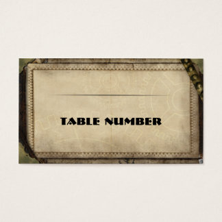 Victorian Steampunk Reception Placecards. Business Card