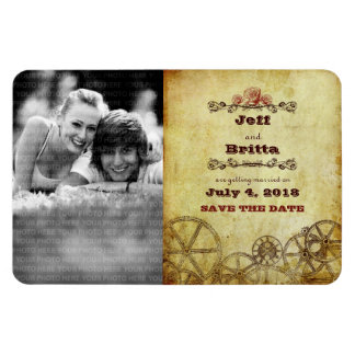Victorian Steampunk Save the Date Photo Magnet