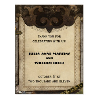 Victorian Steampunk Thank You Postcards