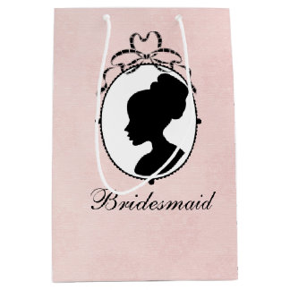 Victorian Style Cameo Bridal Shower Gift Bag