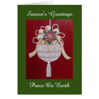 Victorian Style Holiday Ornament, Christmas card