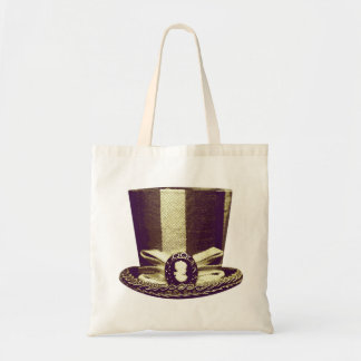 Victorian Style Tophat Image Tote Bag