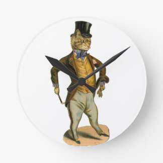 Victorian styles cat with top has round clock