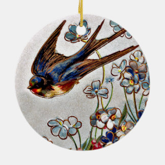 Victorian Swallow Christmas Ornament