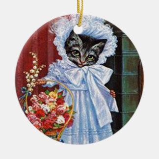 Victorian Tabby Cat Ornament