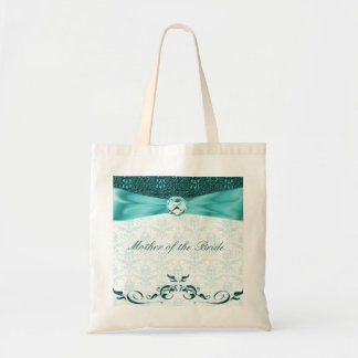 Victorian Teal Damask Mother of the Bride Bag/tote