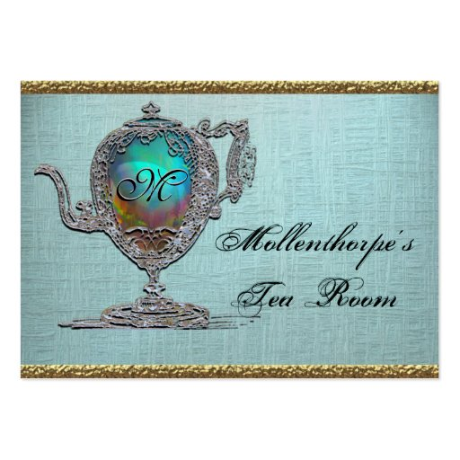 Victorian Teapot Elegant Tea Room Business Card Template