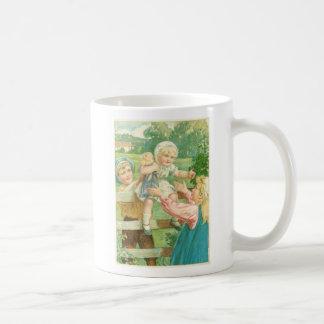 Victorian toddler basic white mug