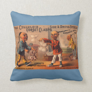 Victorian trade card celluloid corset clasps cushion