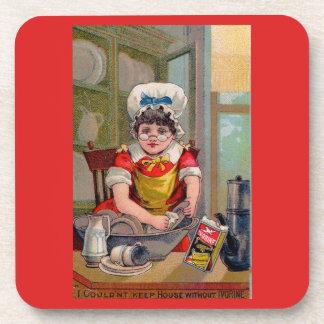 Victorian trade card for Ivorine soap Coaster