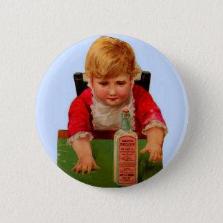 Victorian trade card: Scott's Emulsion Castor Oil 6 Cm Round Badge