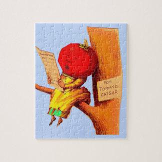 Victorian trade card tomato head woman jigsaw puzzle
