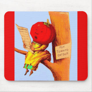 Victorian trade card tomato head woman mouse pad