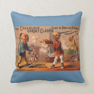 Victorian tradecard celluloid corset clasps cushion