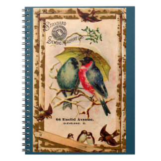 Victorian tradecard Standard Sewing Machine Co. Notebook