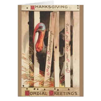 Victorian Turkey Thanksgiving Greeting Card