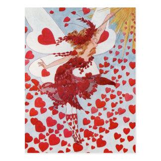 Victorian Valentine heart fairy Postcard