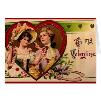 Victorian Valentines Couple card