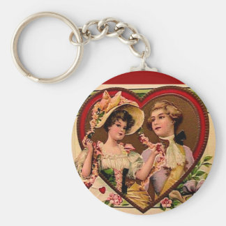 Victorian Valentines Couple Key Chains