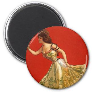 Victorian Vaudeville star Anna Held 1899 Fridge Magnet